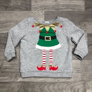 Carter's Elf Christmas Crew Neck Sweatshirt 18M